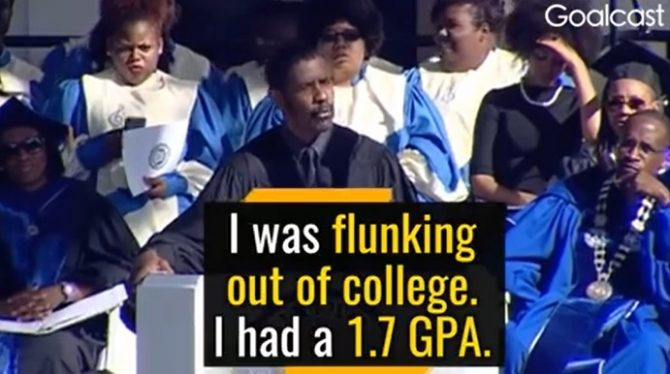 Denzel Washington on the Value of Dreaming and Failing