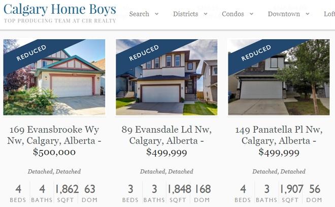Calgary Houses reduced