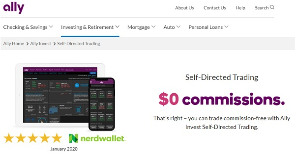 Ally Invest Self Directed Trading Accounts.