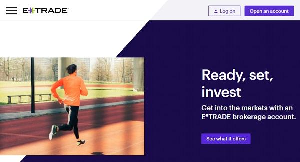 eTrade self managed online brokerage account.