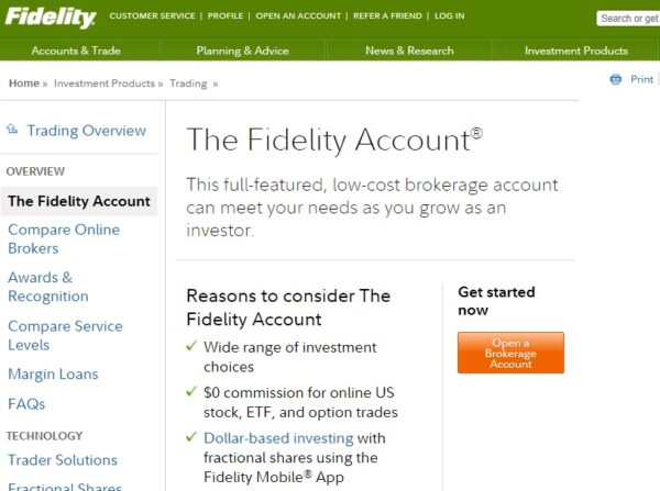 The Fidelity Account. Self-Directed Trading Accounts.
