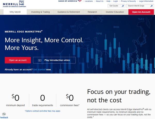 Merrill Edge Self-directed Stock market investing account.