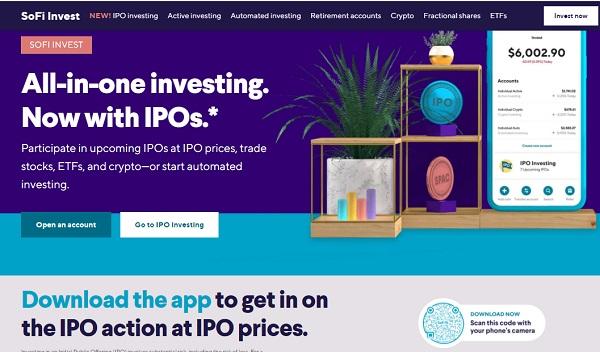 SoFi self directed investing account.