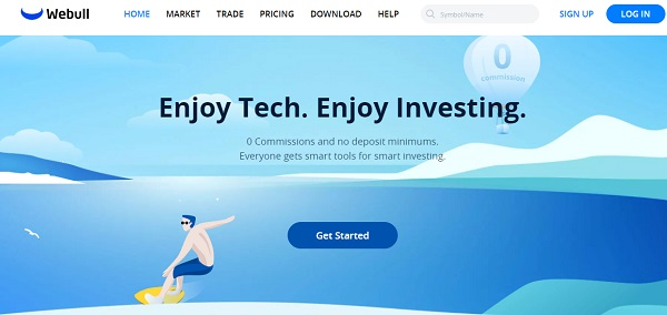 Webull Invest Self-Directed Trading Accounts.