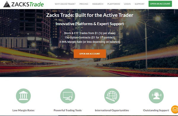 Zacks Trade. Self managed online stock trading account.