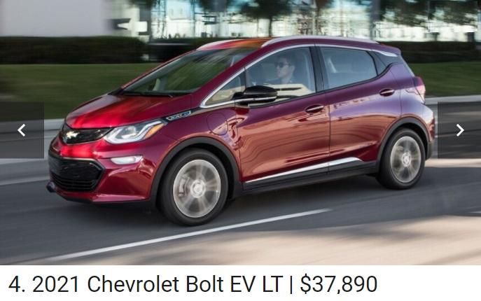 Chevy Bolt EV Car 2021.