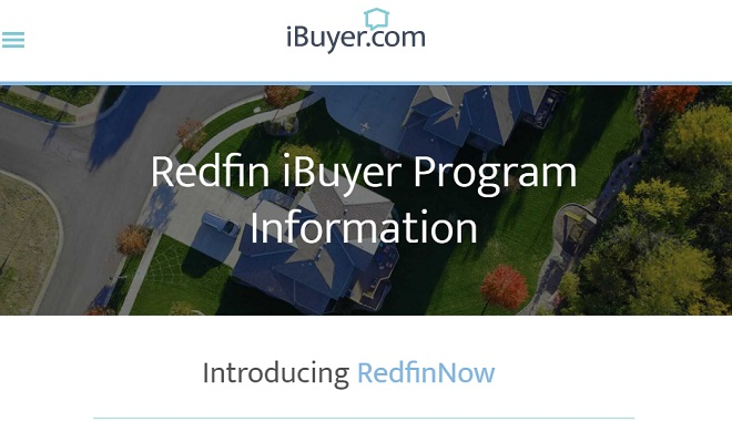 iBuyer Redfin Cash for House Service.